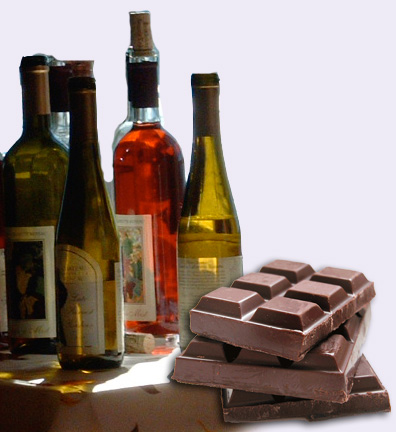 wine and chocolate are guiltypleasures