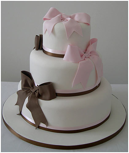 A simple yet beautiful wedding cake idea What do you think